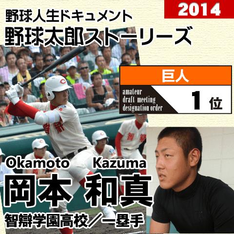 《野球太郎ストーリーズ》巨人2014年ドラフト1位、岡本和真。高校通算73本塁打を放った屈指のスラッガー(1)