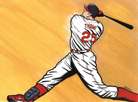 """MLB歴代7位の本塁打数を誇る強打者ジム・トーミ!古巣と""""一日契約""""で ..."""