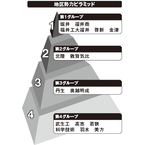 福井 勢力ピラミッド